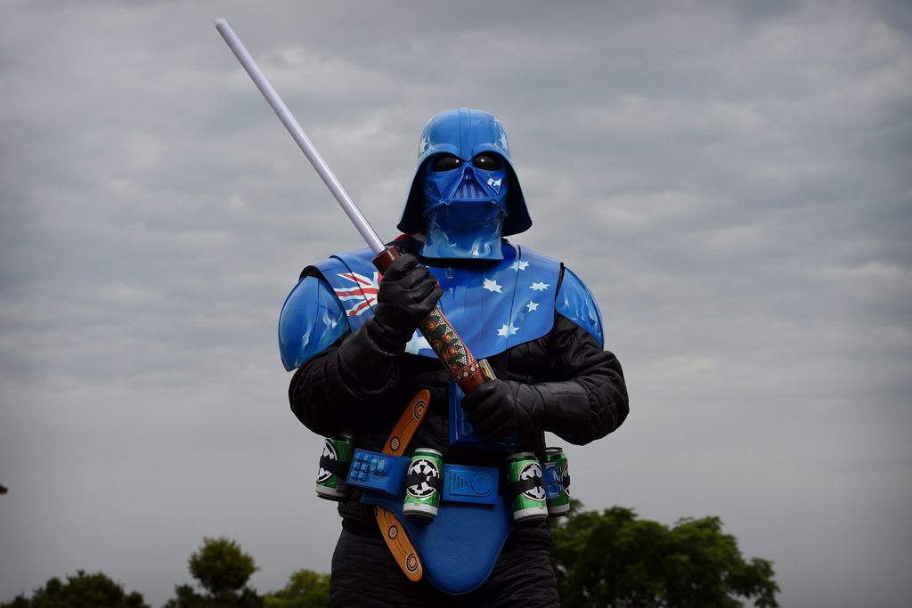 Mick Fett is a police officer for his day job. (AAP)