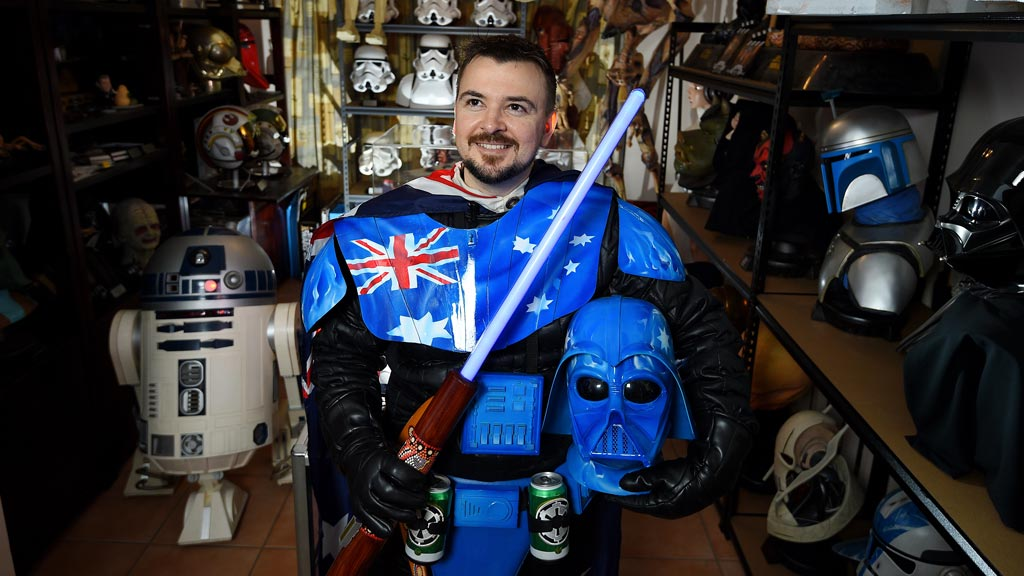 Star Wars fanatic goes from 'the force' to Aussie Darth Vader