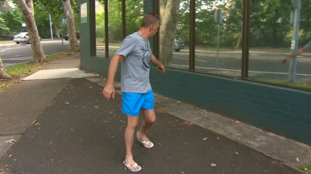 Local man Pete Smith helped subdue the attacker. (9NEWS)