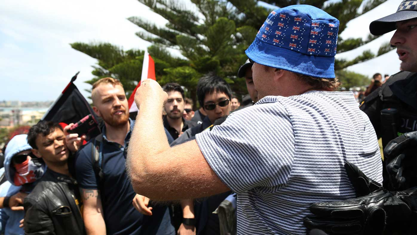 Police outnumber demonstrators at Cronulla anniversary barbecue