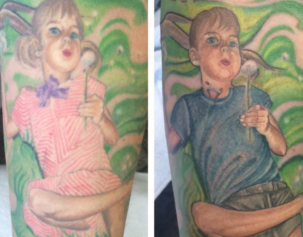 Parents transform tattoo to support transgender son