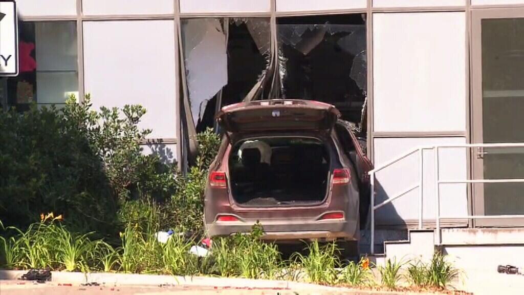 Elderly motorist escapes serious injury after slamming car into Sydney's Royal North Shore hospital