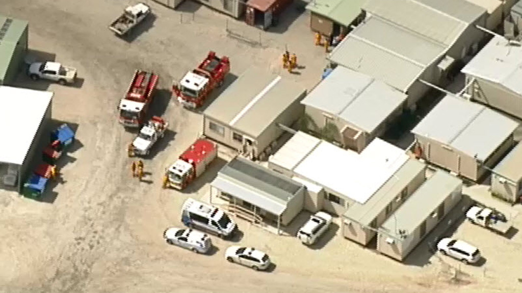 Mine evacuated as fire crews battle underground blaze in Costerfield, Central Victoria
