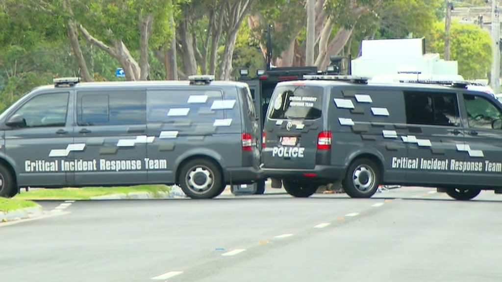 The Critical Incident Response Team at the home today. (9NEWS)