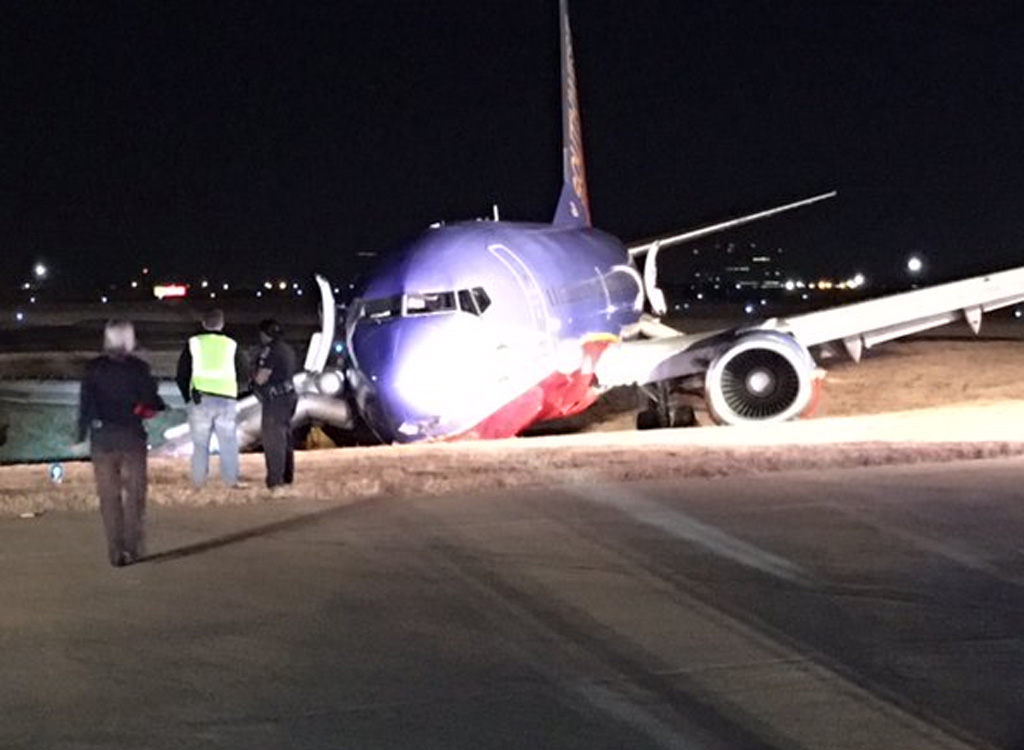 Southwest Airlines plane skids off runway and into ditch after landing at Nashville International Airport