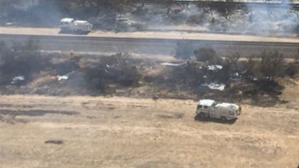 Serious tanker and car crash sparked scrub fire near Coomandook, south-east of Adelaide