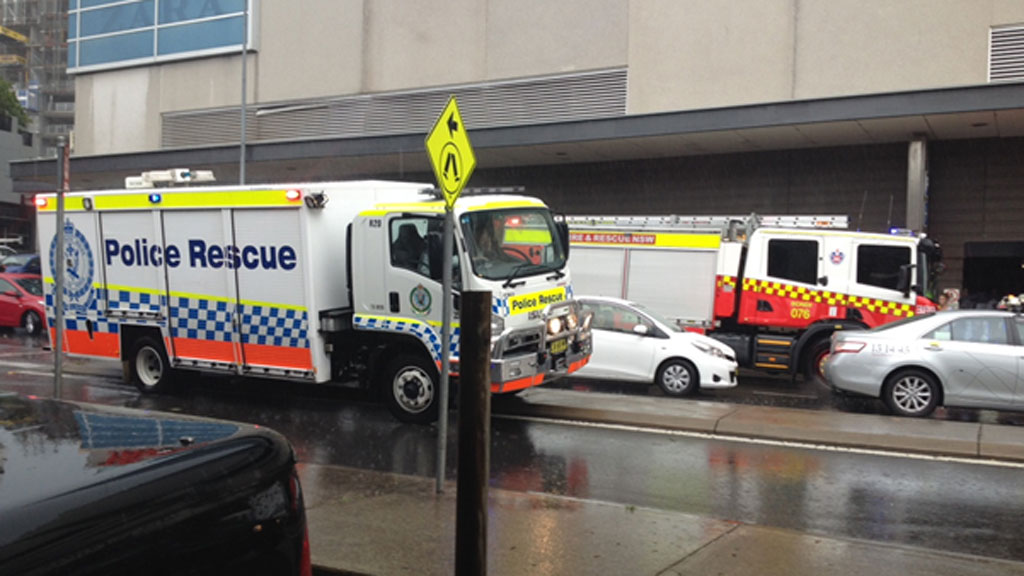 Emergency services assessed one person at the centre. (Jasmine Wilson)