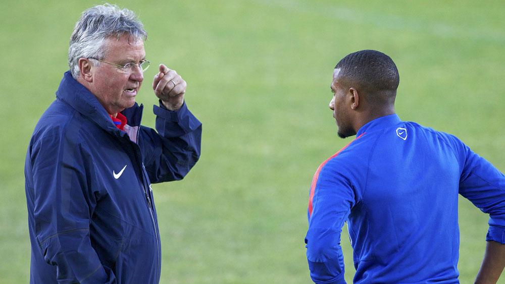 Guus Hiddink (left). (Getty)