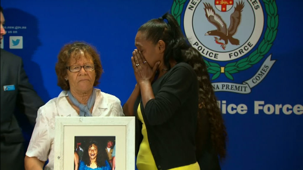 Ms Adler's mother and sister at today's appeal. (9NEWS)