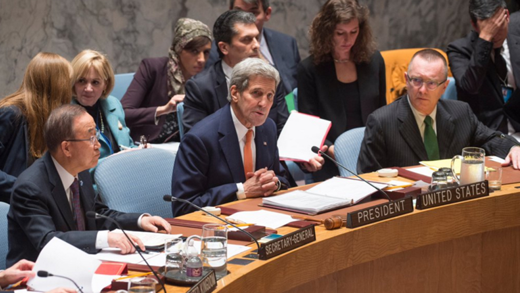United Nations Security Council unanimously adopts resolution on peace plan for Syria