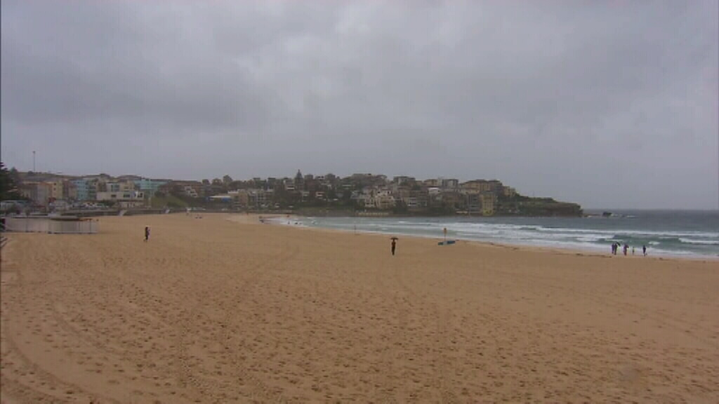 Sydney's Bondi Beach this morning. (9NEWS)