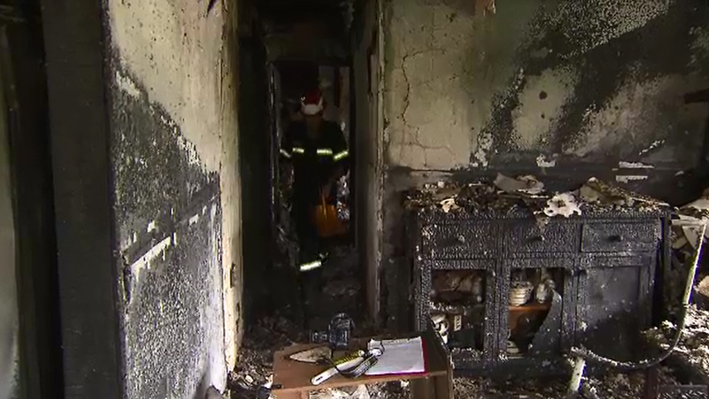 The Kingston home was destroyed by fire. (9NEWS)