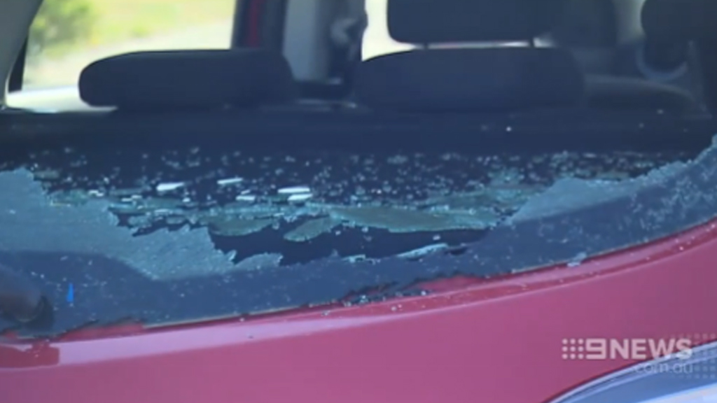 Vandals smashed in the windscreens of at least 18 cars in Melbourne's west. (9NEWS)