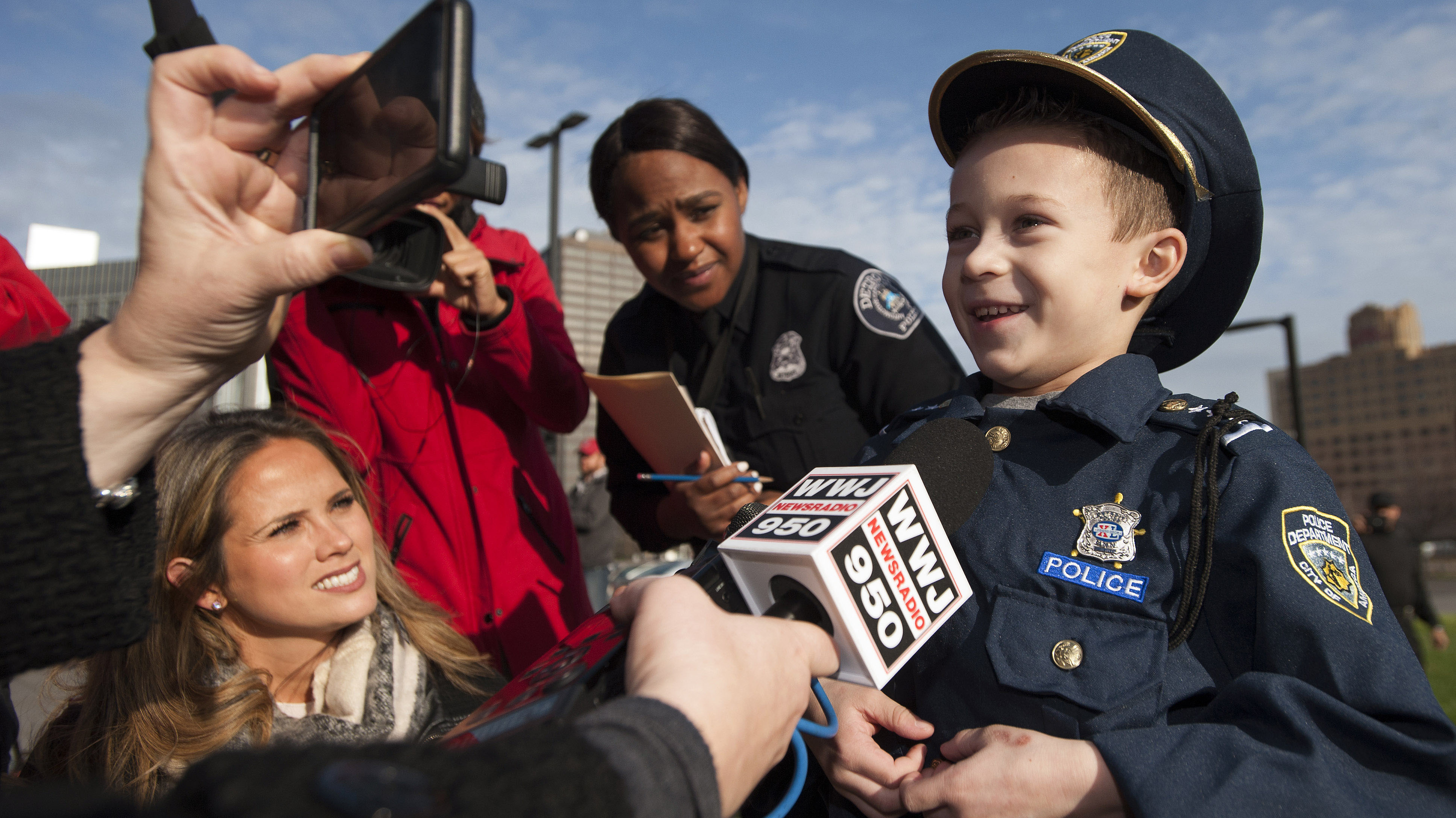 Boy who donated Christmas money to K-9 unit made police chief for a day