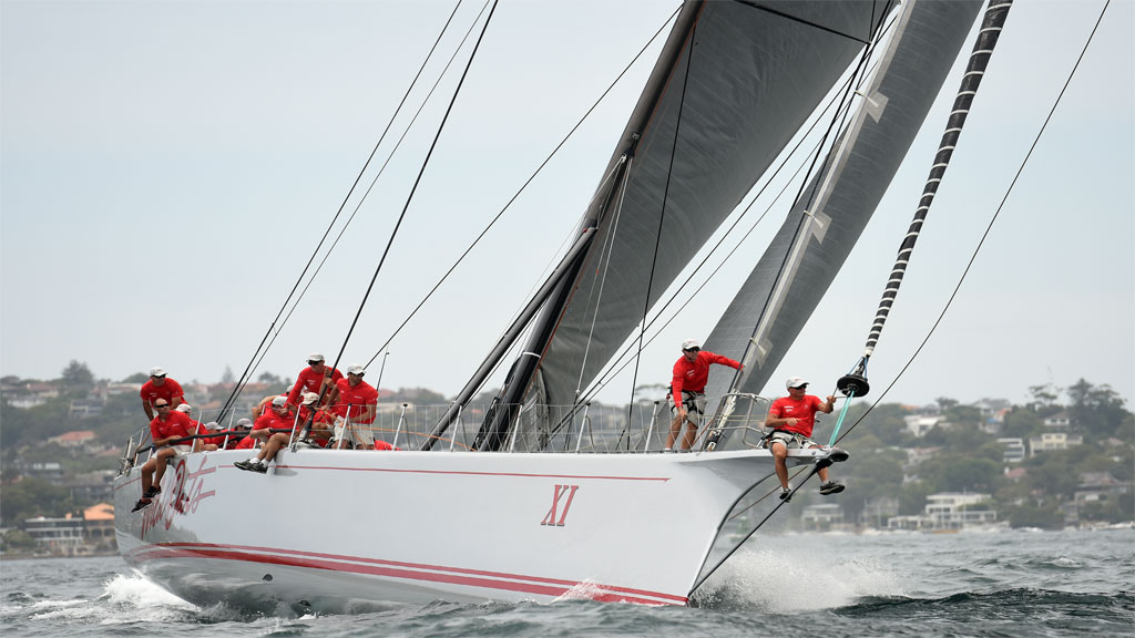 Wild Oats XI during the SOLAS Big Boat Challenge in Sydney. (AAP)