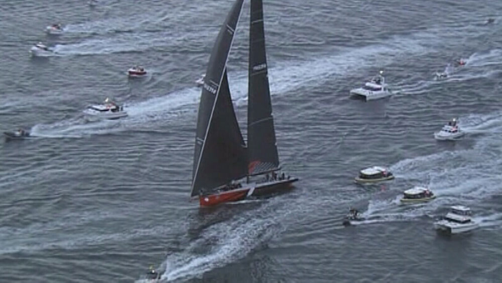 Comanche limps home to win line honours
