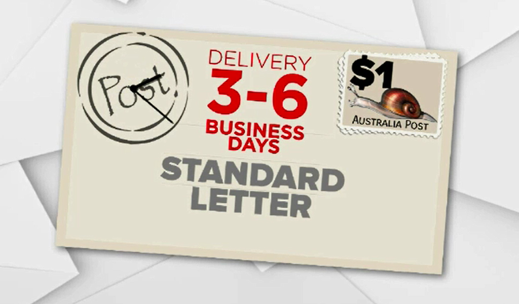 The price of sending a standard letter will rise to $1. (9NEWS)