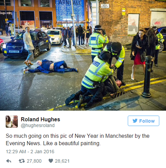 Woman in 'masterpiece' NYE photo reveals story behind viral image