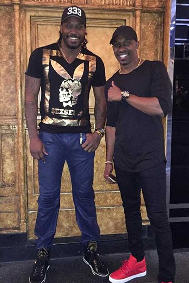 Chris Gayle and Dwayne Bravo in an Instagram post yesterday.