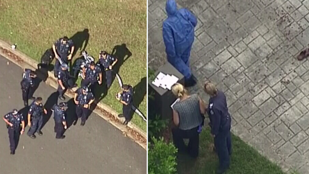 Police rushed to the scene in Parkinson after reports of a disturbance. (9NEWS)