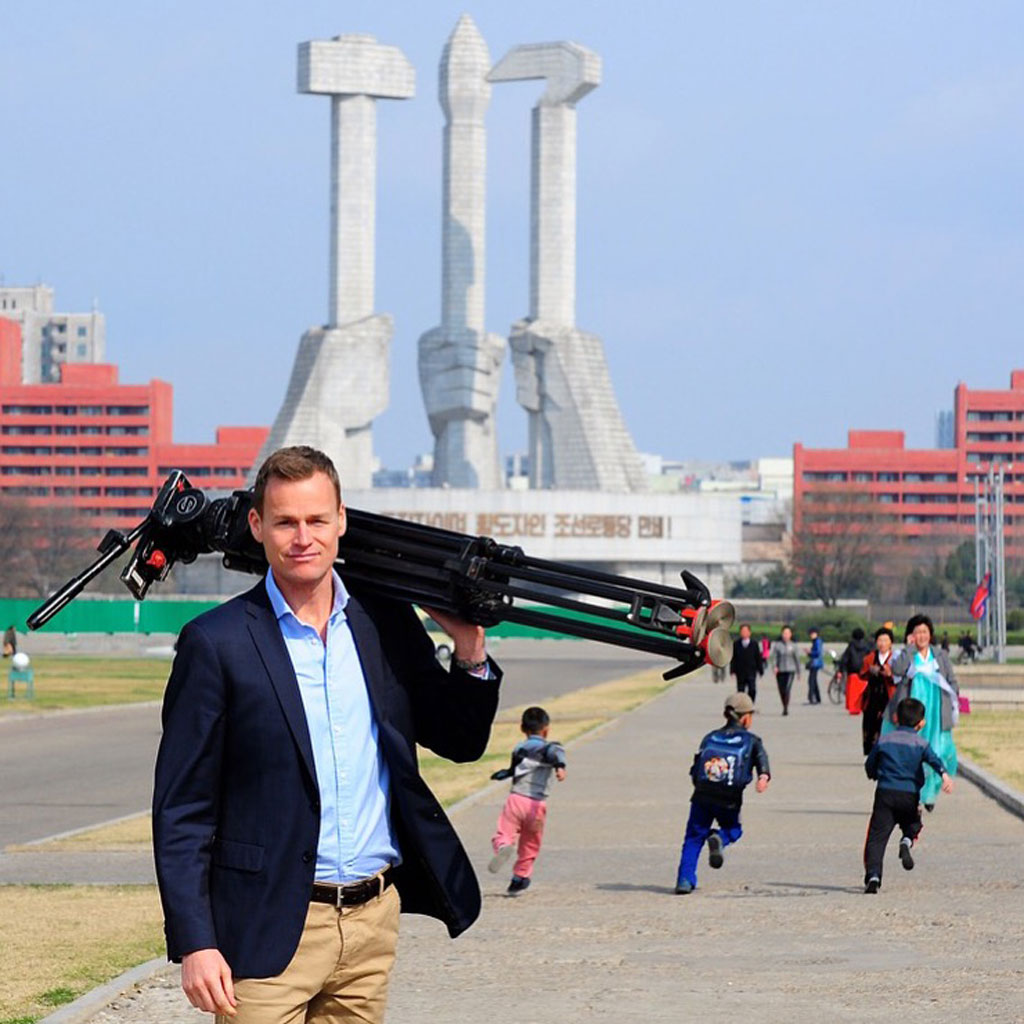 Tom Steinfort in North Korea.