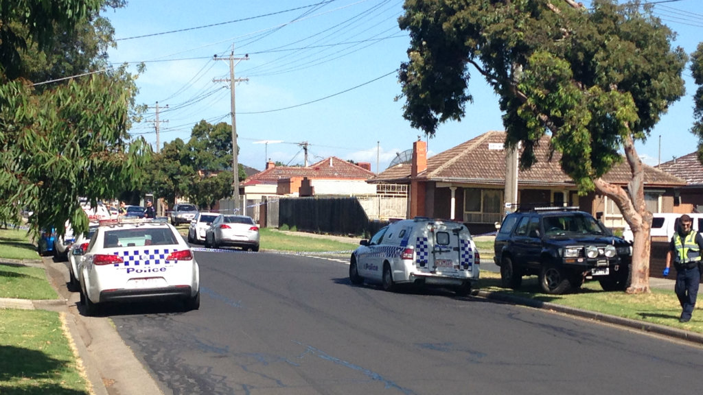 Four people were stabbed on Braim Street, Sunshine North this afternoon. (9NEWS)