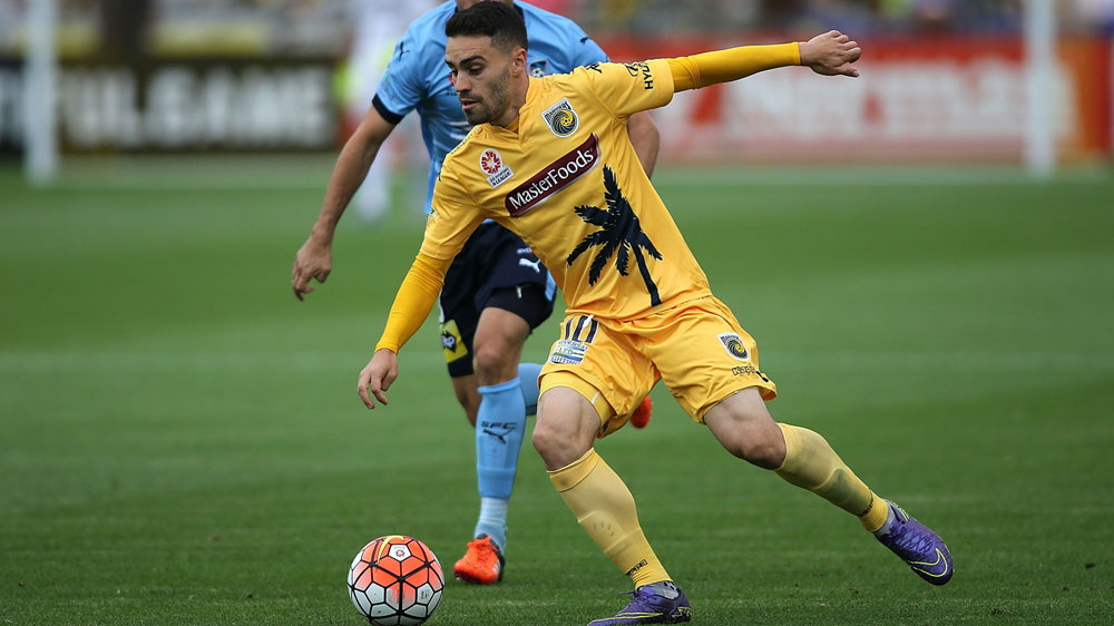 Anthony Caceres in action for Central Coast. (Getty-file)