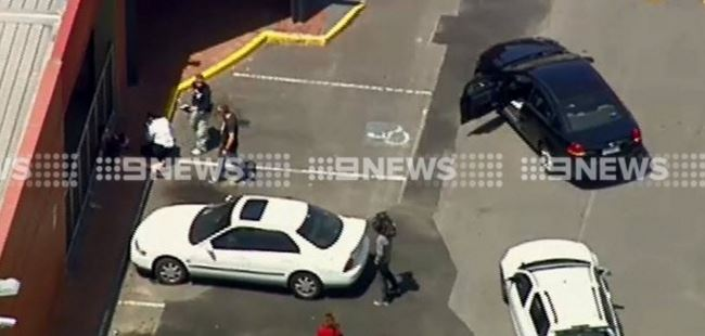 Police at the scene. (9NEWS)