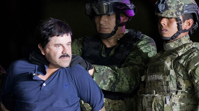 """""""El Chapo"""" has been transferred back to maximum security prison after his arrest. (AFP)"""