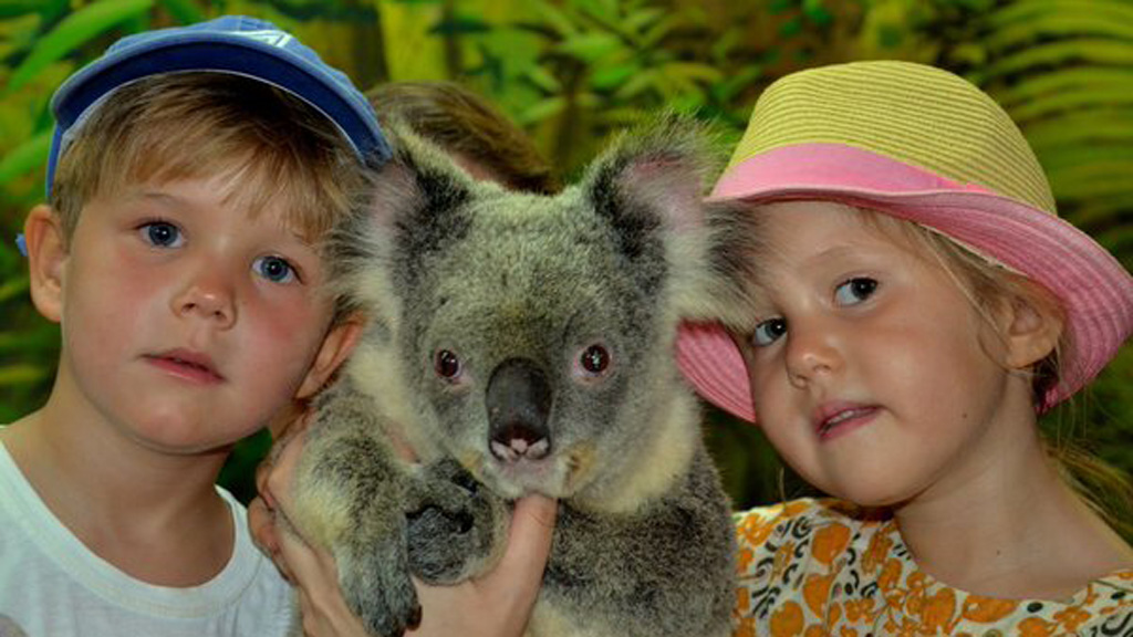 Royal twins pose with Tasmanian koala in nod to mum Princess Mary's home state