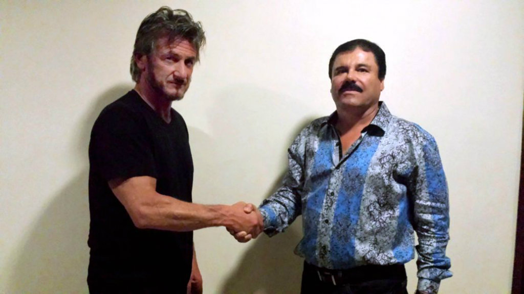 Sean Penn with 'El Chapo'. (Sean Penn/Rolling Stone)