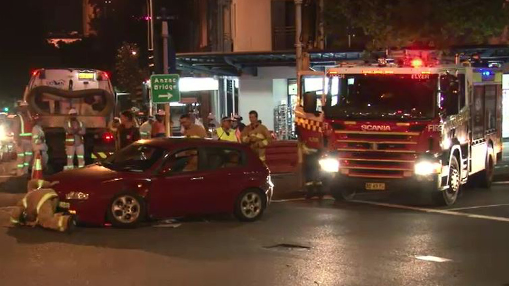 Two cars collide at busy intersection in Surry Hills, Sydney