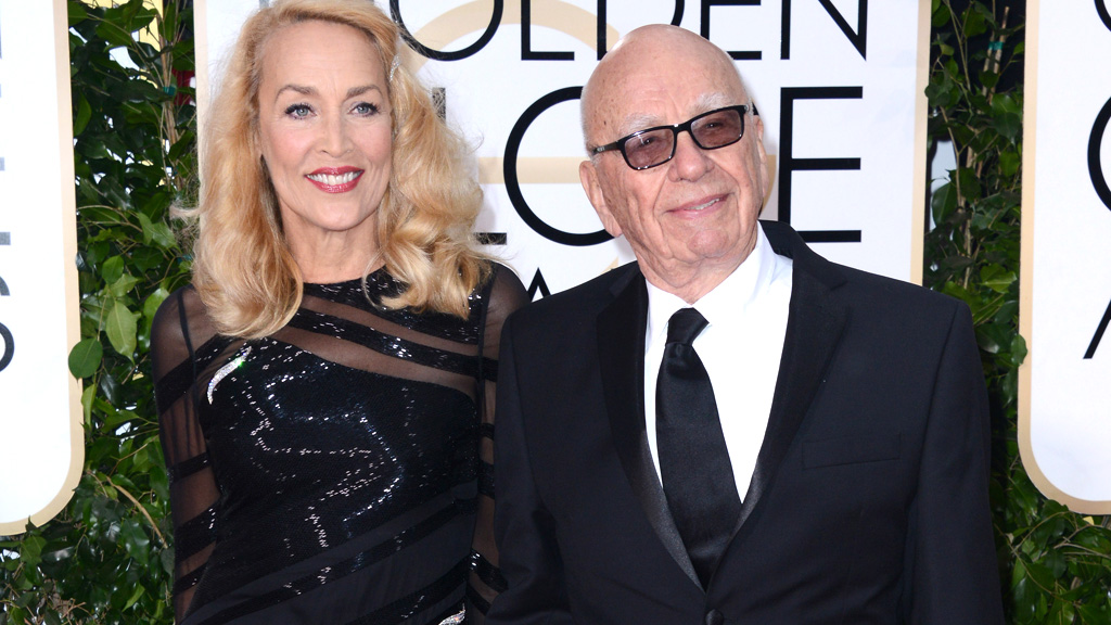 Rupert Murdoch and Jerry Hall announce their engagement after four month romance