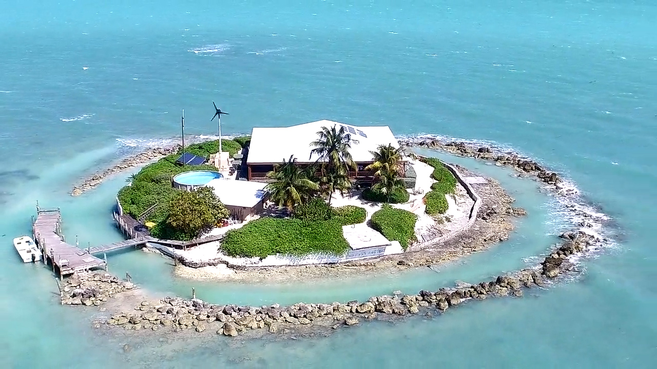 The island includes a helipad to reach the home via helicopter. (Supplied)