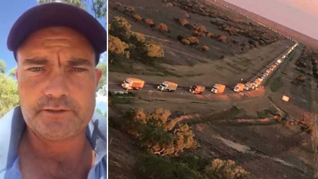 Burrumbuttock Hay Runners organiser shrugs off praise after epic journey to deliver hay to drought-stricken Queensland