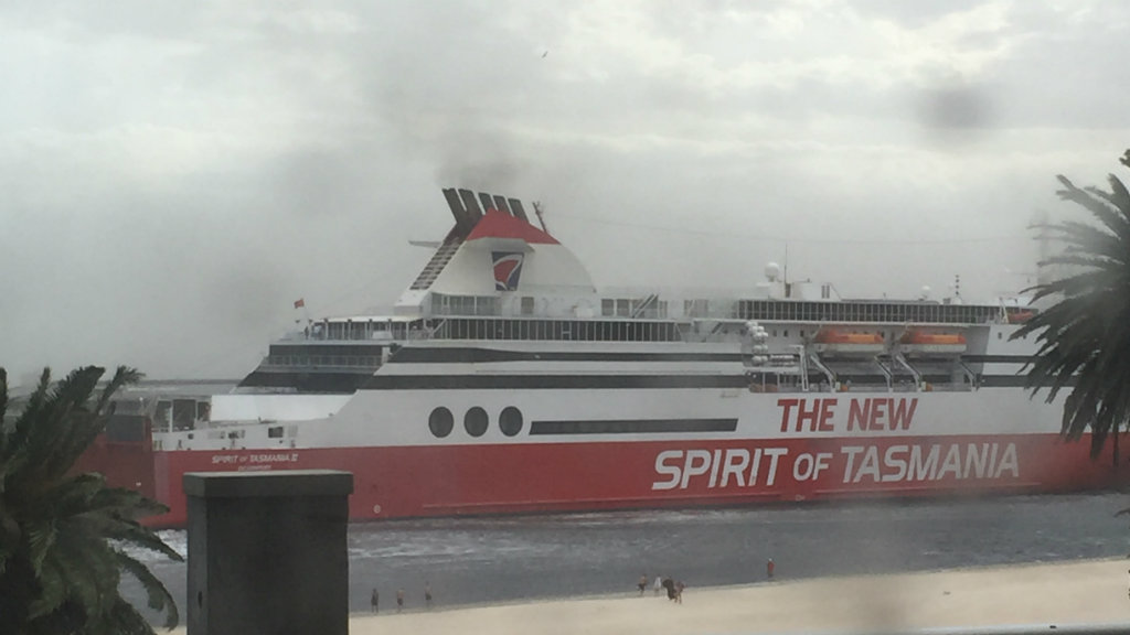 The Spirit of Tasmania is docked in Port Melbourne. (Chris Harvey/Supplied)