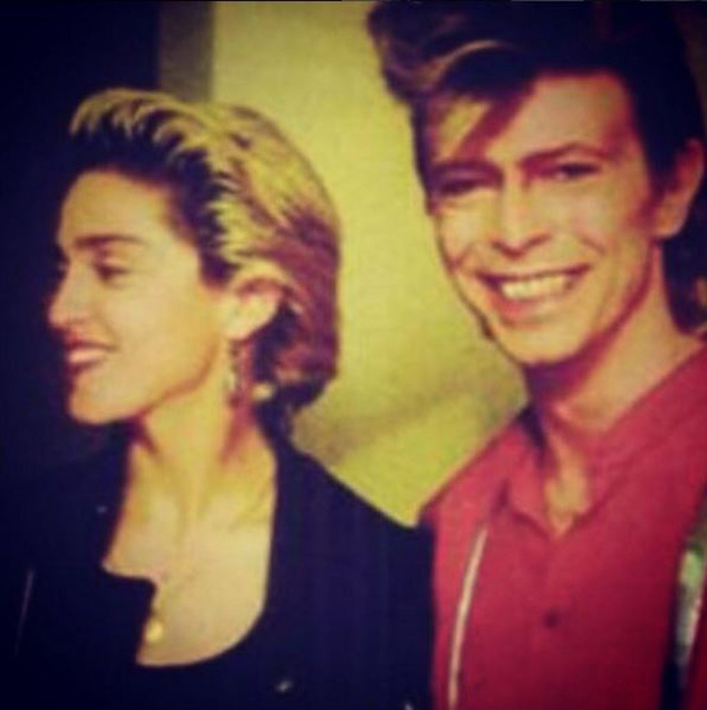 Madonna with David Bowie. (Instagram)
