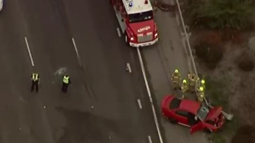 Two people taken to hospital after suspected 'road rage' crash on Monash Freeway near Springvale Road