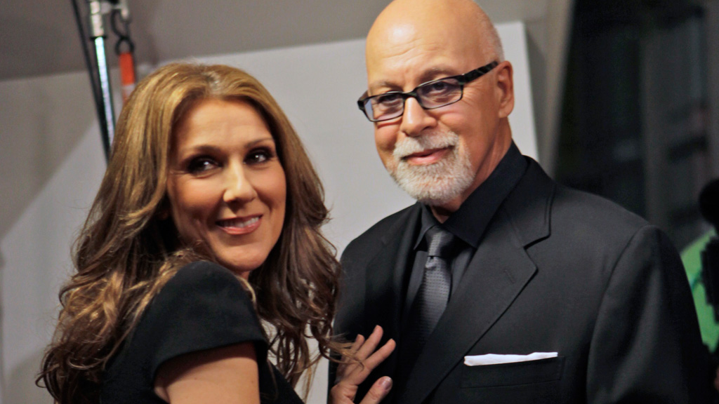 Celine Dion with husband Rene Angelil. (AFP)