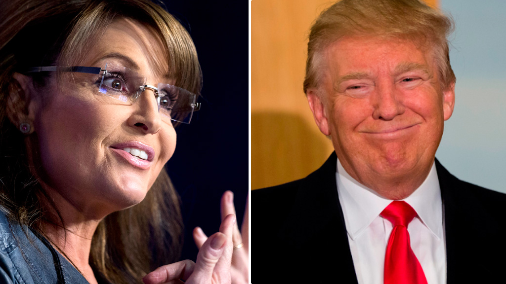 Sarah Palin endorses Donald Trump for US presidency