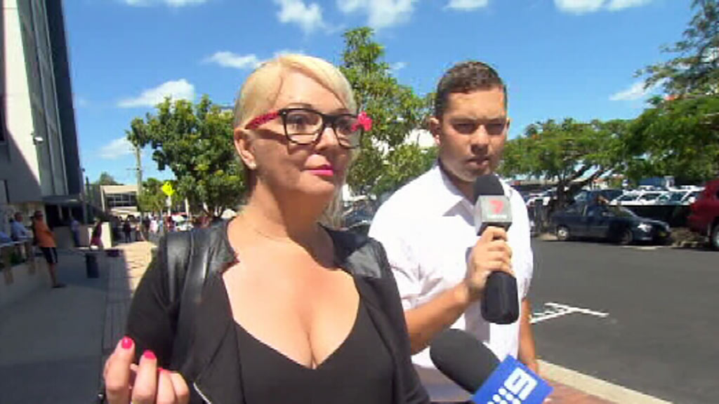 Angela Bisson outside Southport Magistrates Court today. (9NEWS)