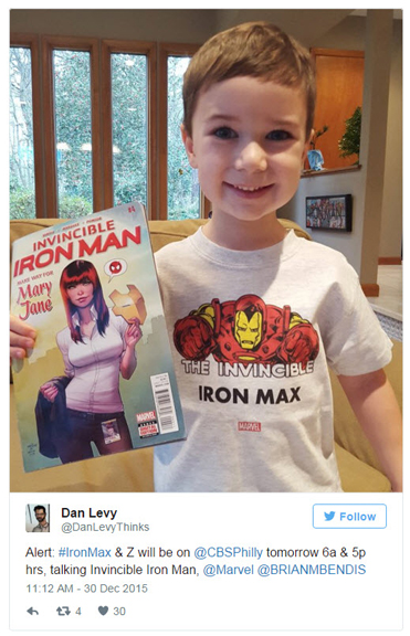 Marvel Comics honours young boy fighting rare disease with cameo in Iron Man