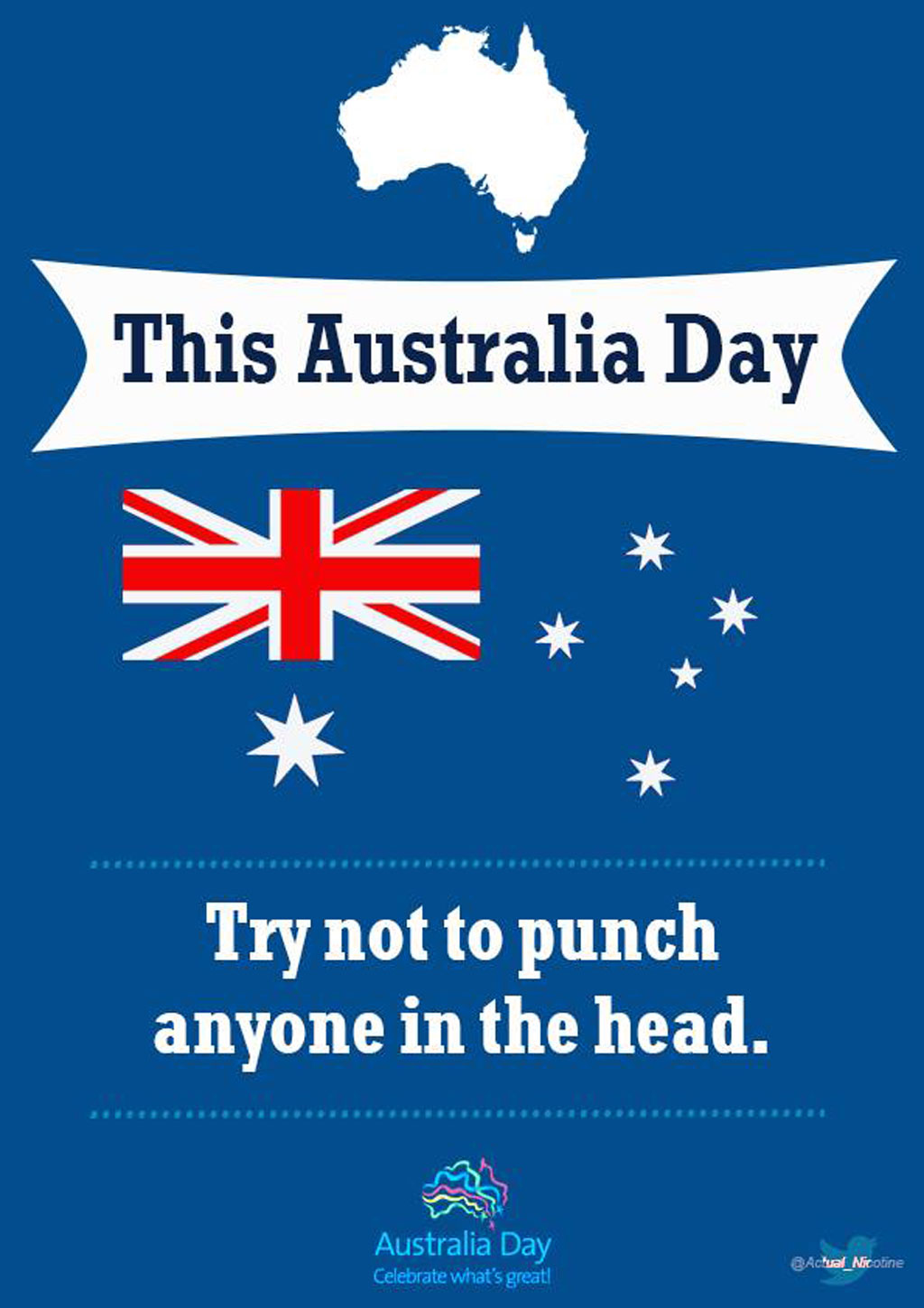 The simple message one man wants you to remember this Australia Day