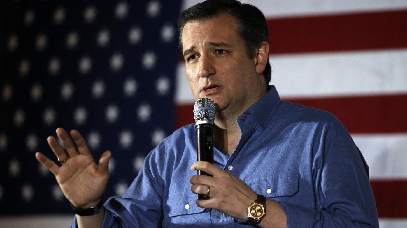 Republican candidate Ted Cruz. (AAP)