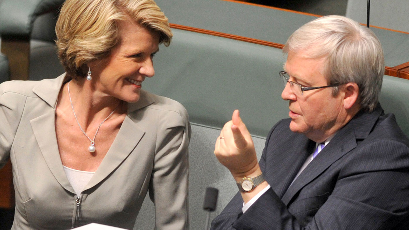 We'll consider backing Rudd for UN: Bishop