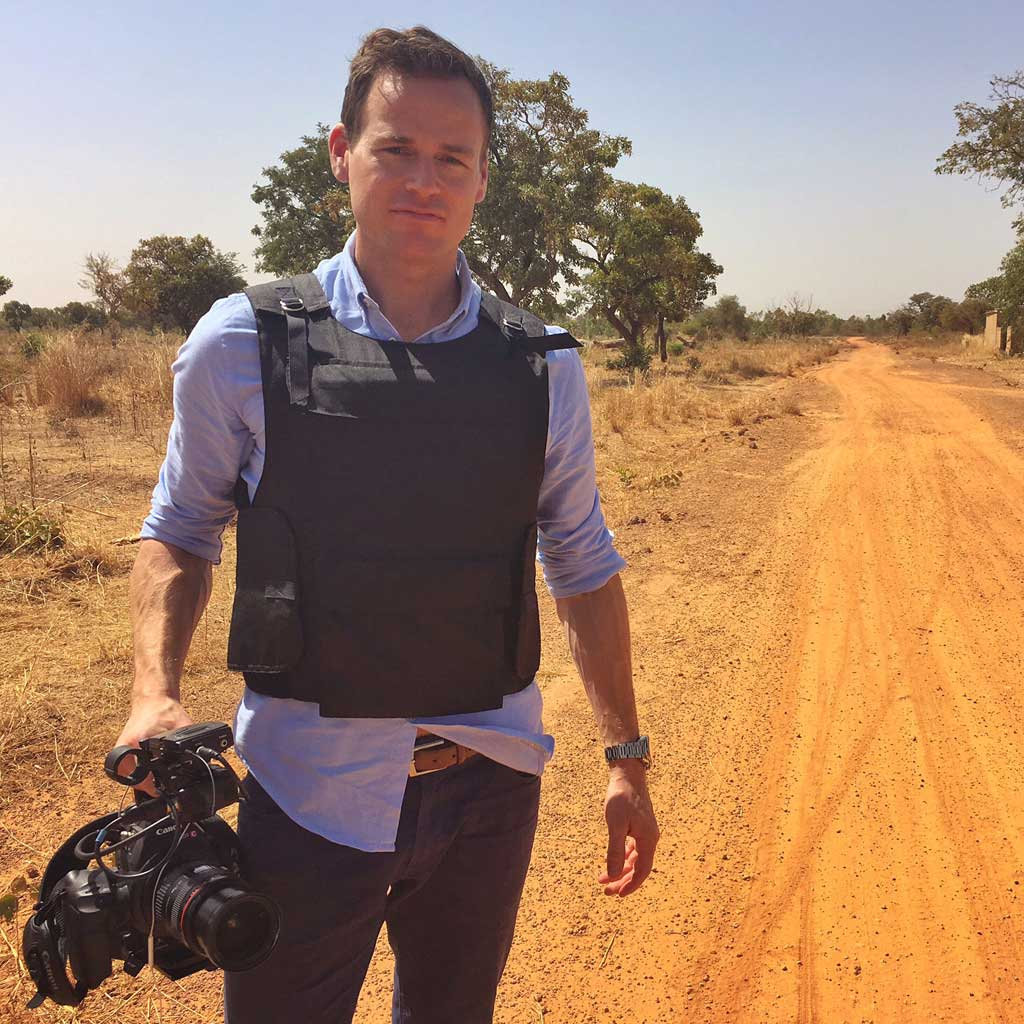 Tom Steinfort in Burkina Faso. (9NEWS)
