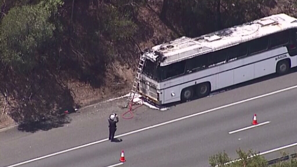 All passengers and the driver escaped safely. (9NEWS)
