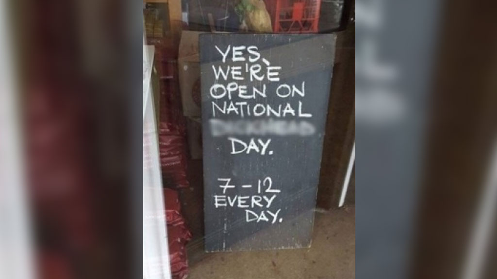 Coffee shop under fire over unpatriotic Australia Day sign