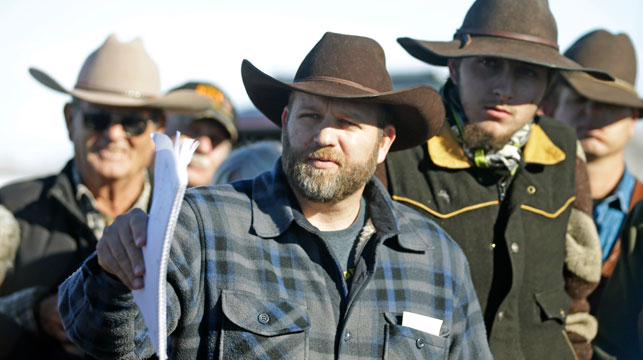Ammon Bundy and militia group members arrested