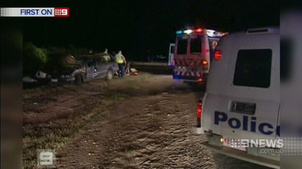 The scene of the crash in Cardross, south of Mildura, in 2006. (9NEWS)